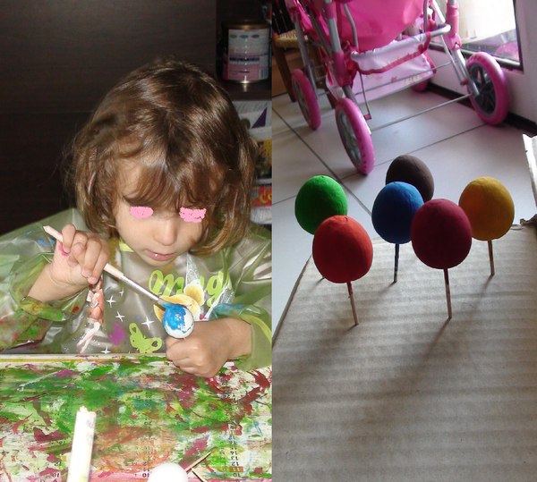 Mobile de Pâques avec petits œufs (2ème partie)