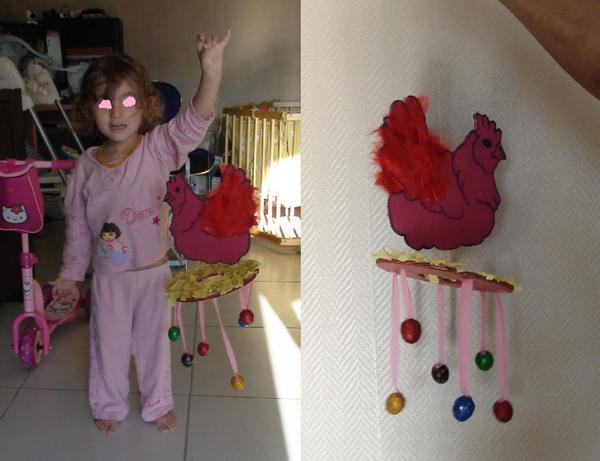 Mobile de Pâques avec petits œufs (dernière partie)
